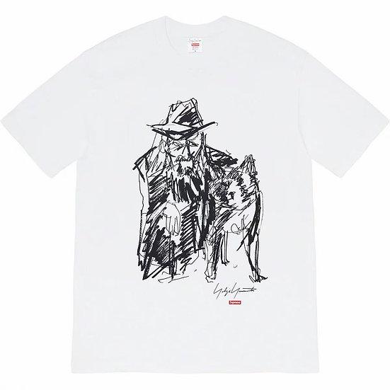 Supreme Yohji Yamamoto Portrait Scribble Tee White