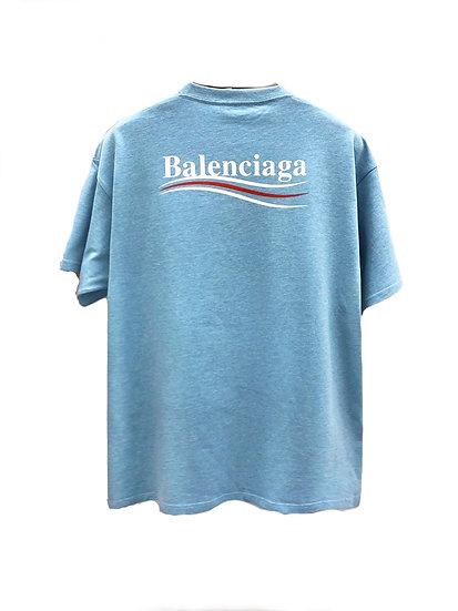 Balenciaga Political Tee Sky Blue