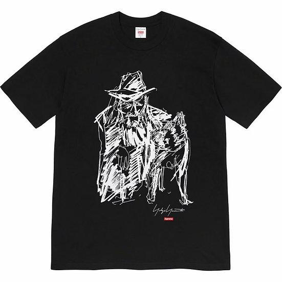 Supreme Yohji Yamamoto Portrait Scribble Tee Black
