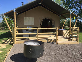 Picturesque safari tents