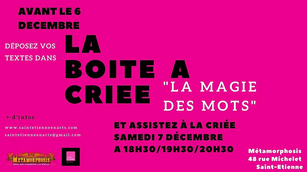 Saint-Etienne - Métamorphosis en Arts : La Magie des Mots -