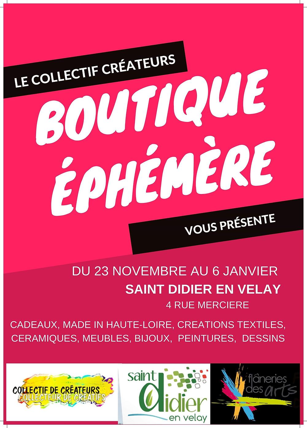 Ouverture d'une boutique éphémère à Saint-Didier en Velay