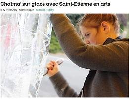 Chalma' sur glace avec Saint-Etienne en