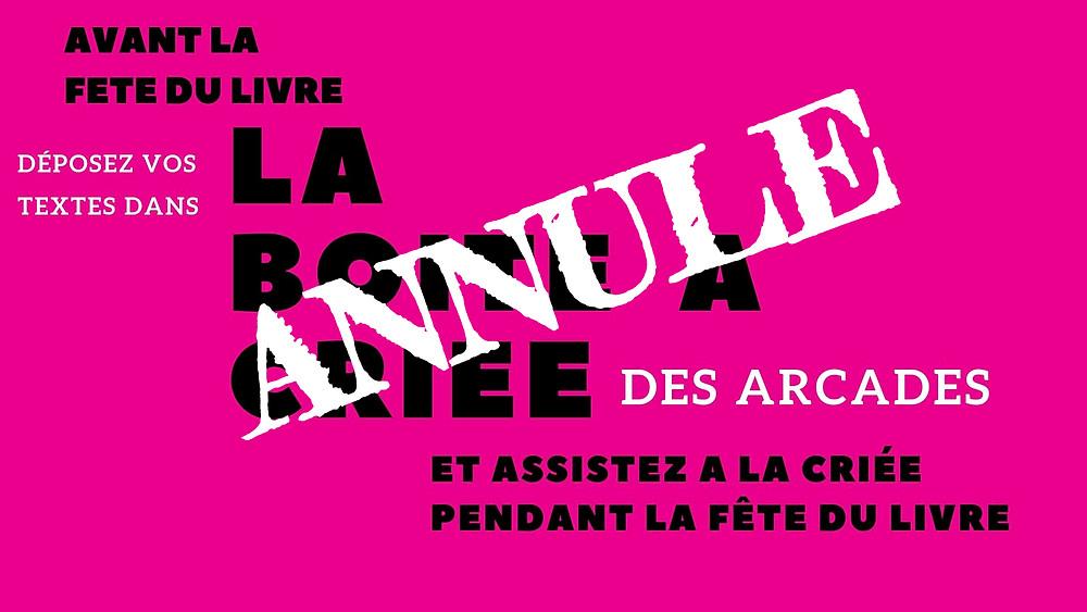 La boîte à criée des Arcades : Saint-Etienne
