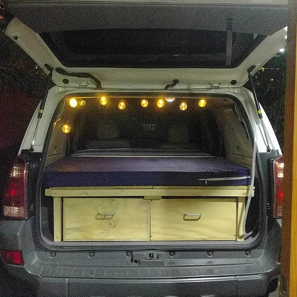 toyota 4runner camper with bed in chile santiago