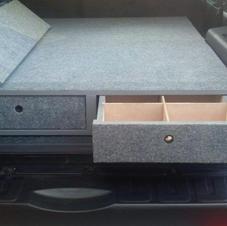 SUV drawer bed overlanding