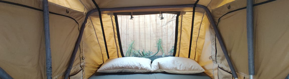 roof top tent inside view