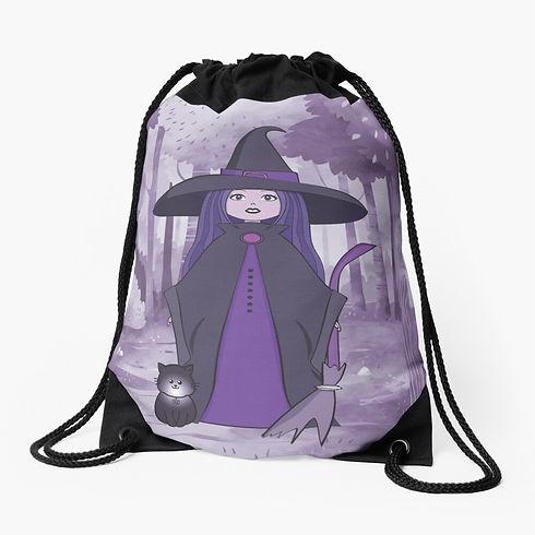 purple-woodland-witchery-drawstring-bag.