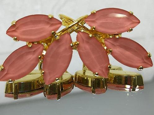 Model # 521 עגילי נשים, עגילים בתליה לוטוס בהיר אבני קריסטל