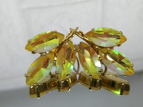 טופז מוזהב  אבנים: קריסטל (ABׁ(A12  מתנה בשבילה, מתנה לכלה # Model 710