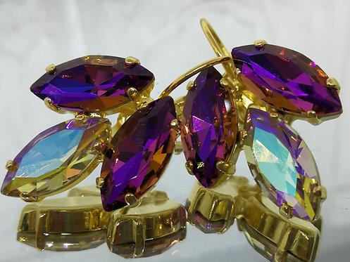 סגול זוהר, זהב זוהר, סגול זוהר  אבנים: קריסטל AB Model # 569