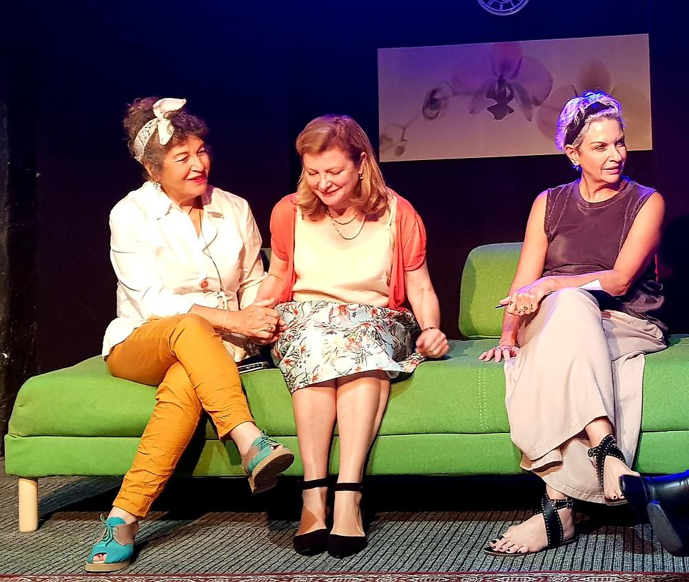 אורנה גטניו רוית ליפשיץ ציון ואירית דגמי בתאטרון הסמטה ביפו פאנל נשים