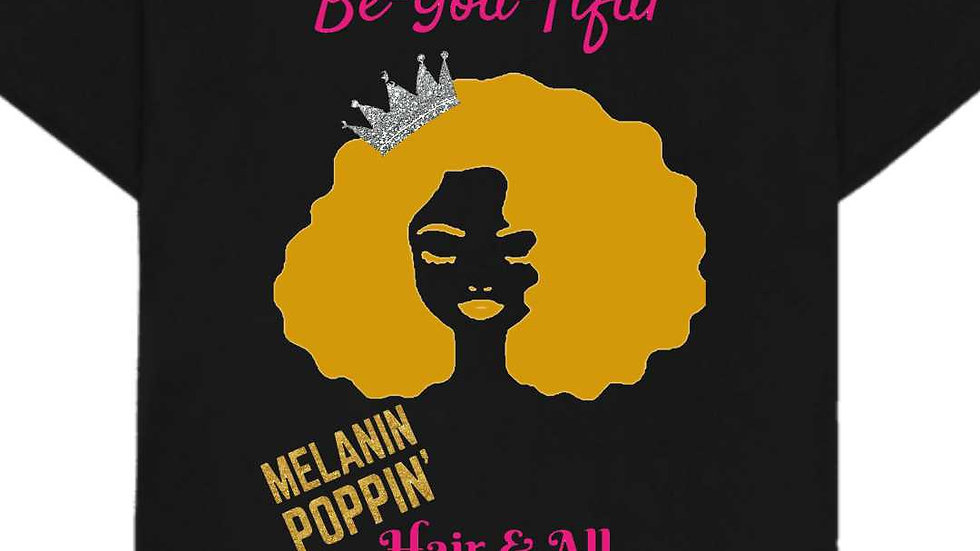 Melanin Poppin' Hair & All - Silver Crown