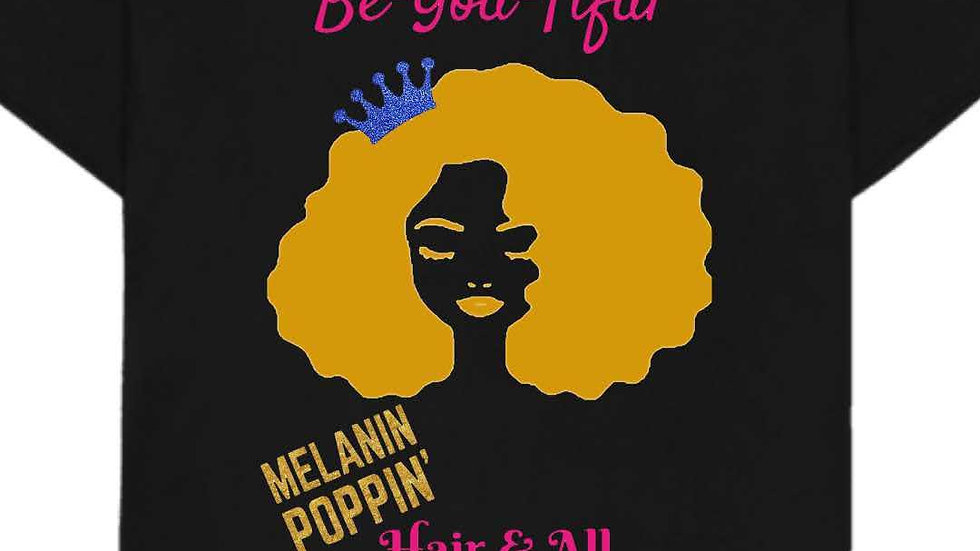 Melanin Poppin' Hair & All - Blue Crown