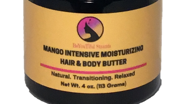 4oz. Whipped Mango Intensive Moisturizing Butter - Lemongrass Scent