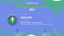 CERTIFICADO: Energia Renovável 2021