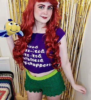 Ariel ralph breaks the internet crochet cosplay