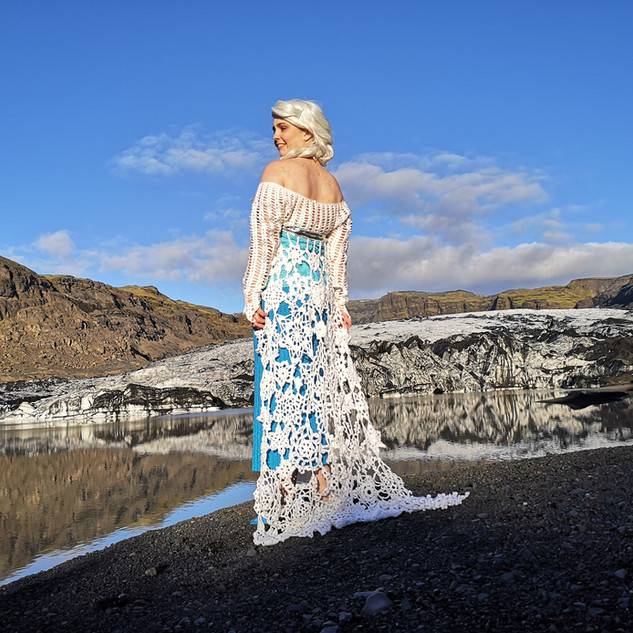 Queen Elsa's ice dress