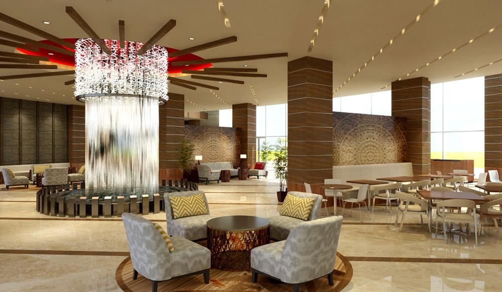 Chinese hotel lobby