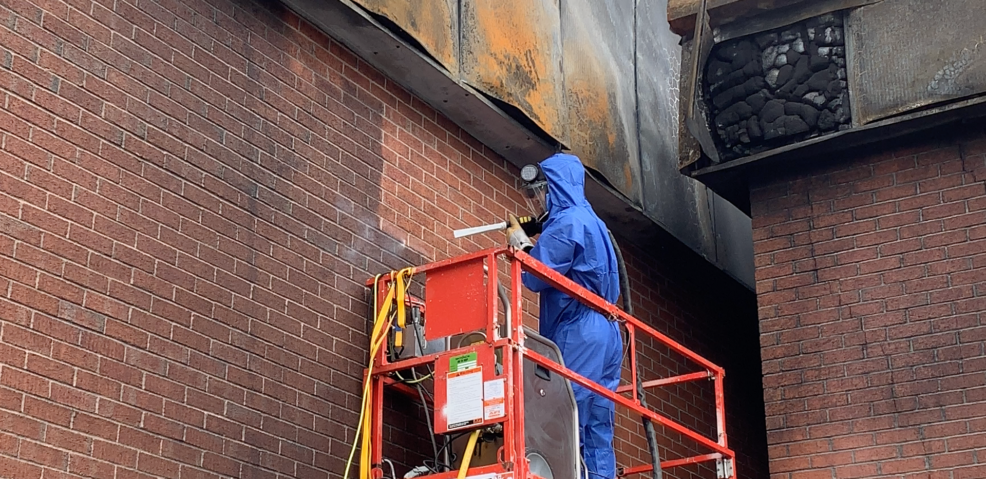 Soot Removal from Brick