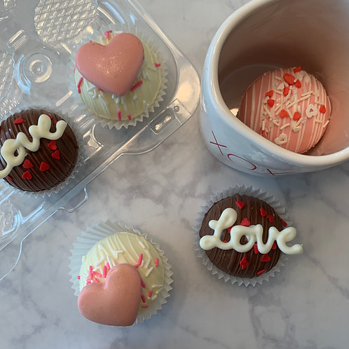 6 Pack Valentine's Day Cocoa Bombs