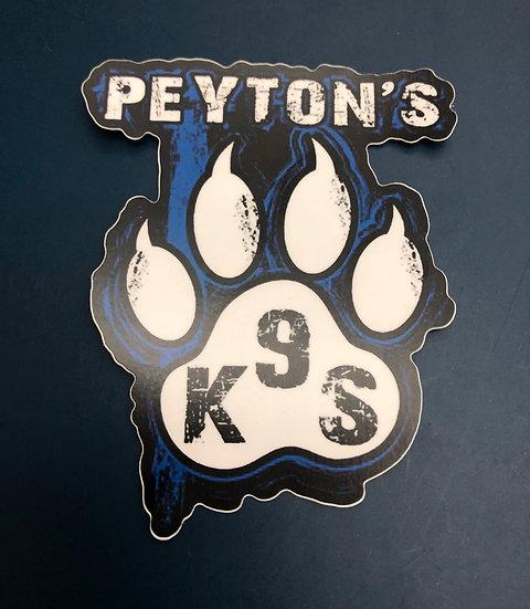 Peyton's K9 Decal