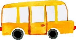 Yellow school bus drawing