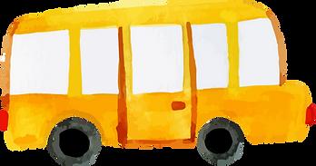 bus scolaire représentant le transport à l'École des Grands avec la Fondation W.