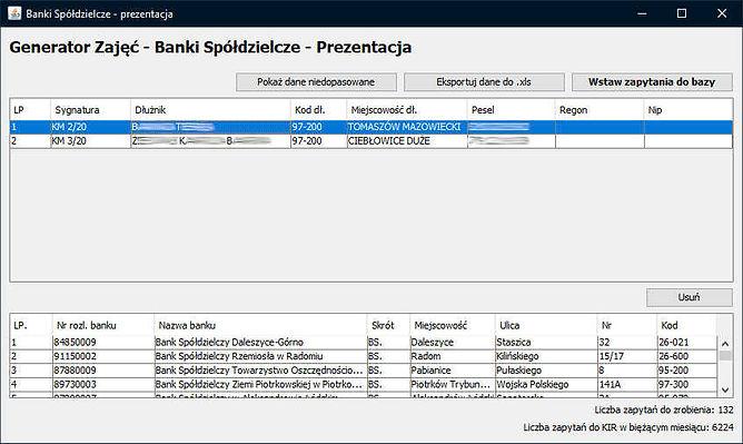 Dopasowane banki