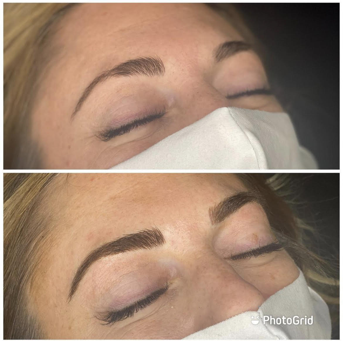Microblading Before and After Session | Bronzed Humanity