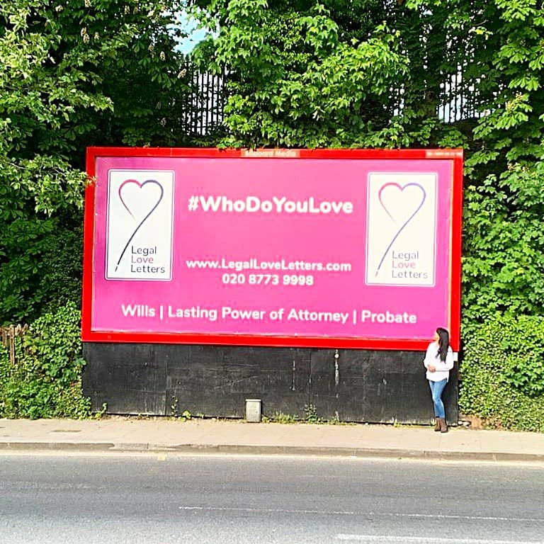 The loneliest billboard in town | Legal Love Letters | Covid19
