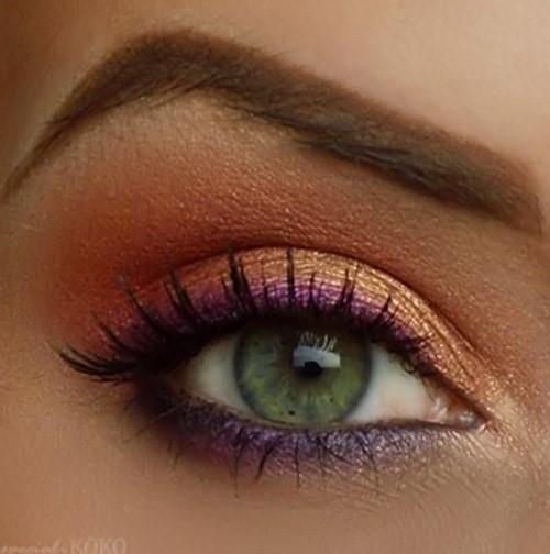 Pink Gold Eye Makeup: