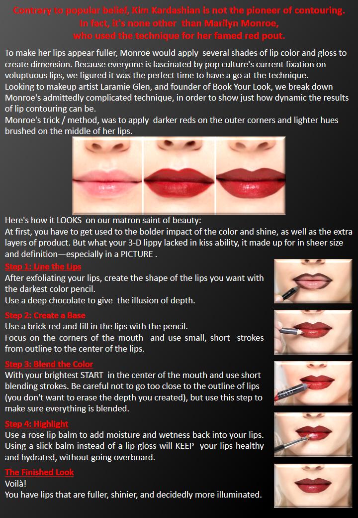 Lips Contouring Tricks