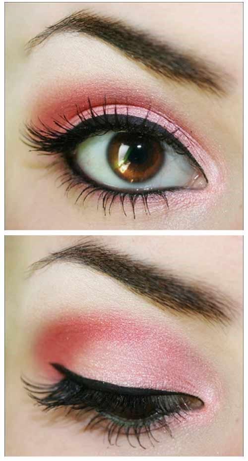 Bright Pink Eye Makeup:
