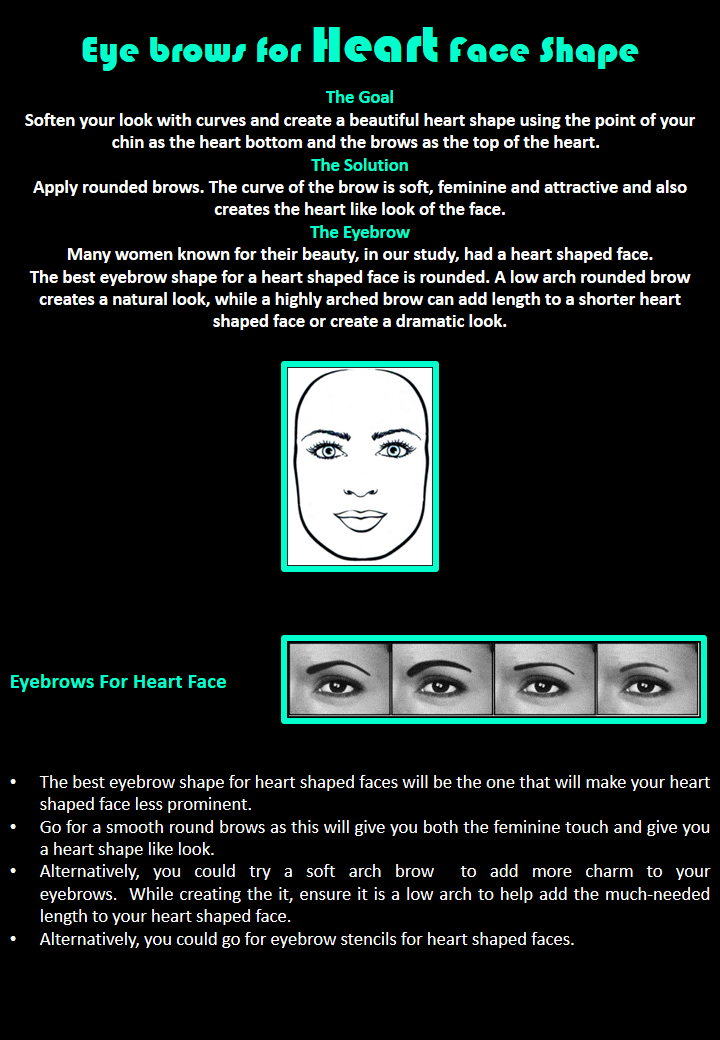 Eye brows for Square Face Shape