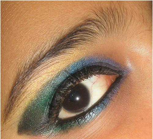 Peacock Eye Makeup:
