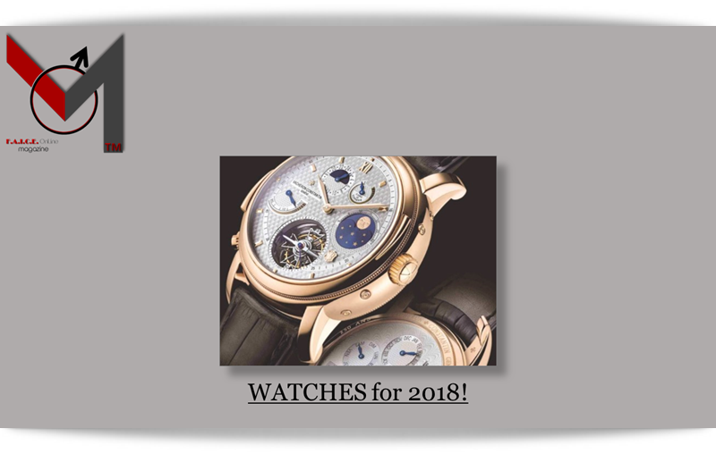 WATCHES for 2018!