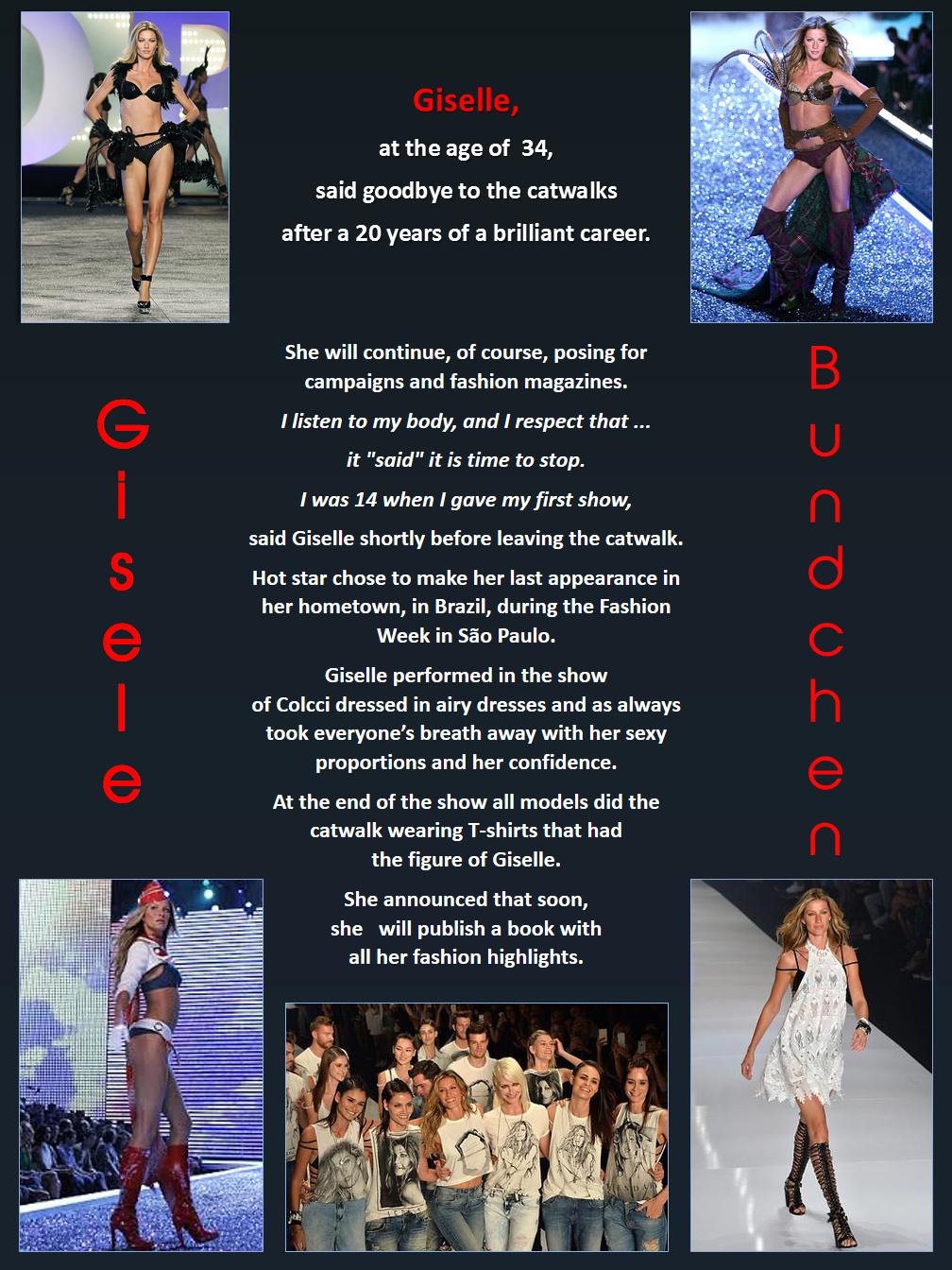 Gisele Bundchen - The last catwalk