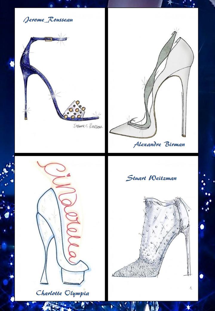 Cinderella Shoes as famous Designers