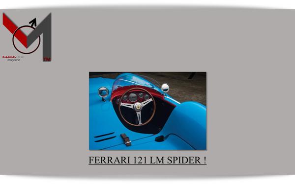 M FERRARI 121 LM SPIDER