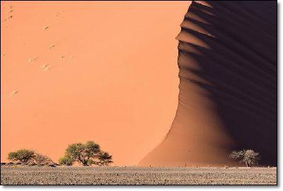 Namibia dunes resemble waves