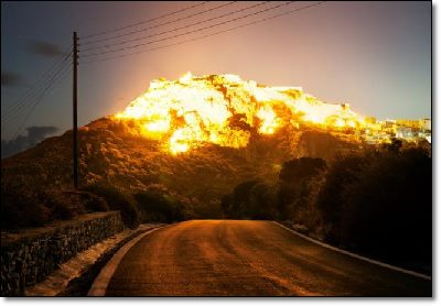 Its not eruption-mere mirage