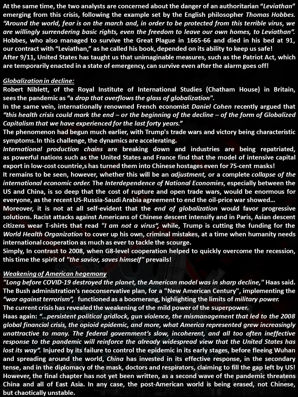 Pandemics' Lessons (Part 2)