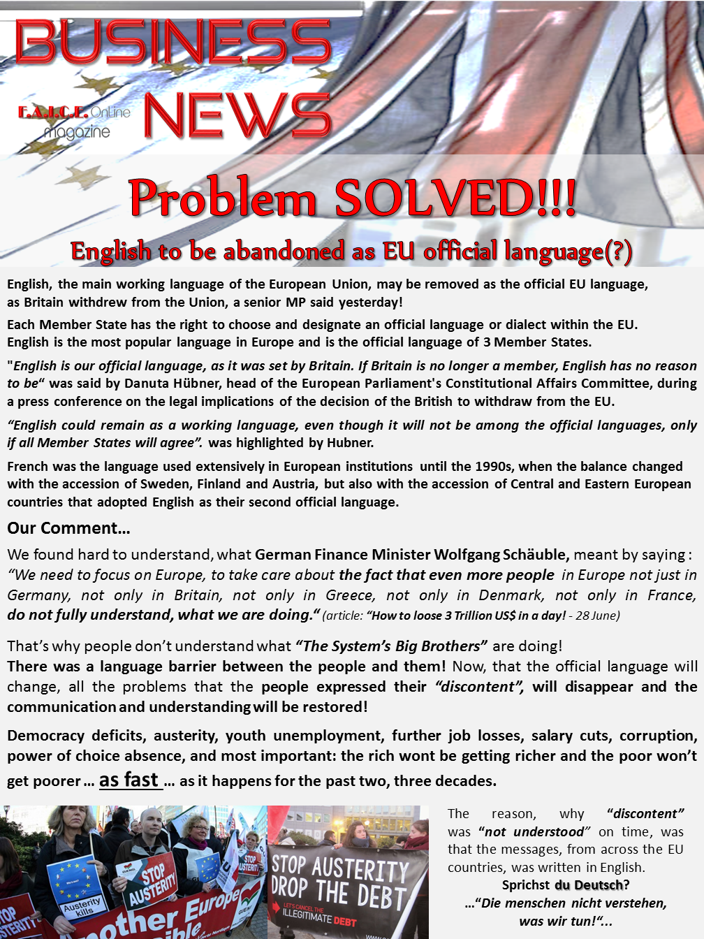 English is the problem?