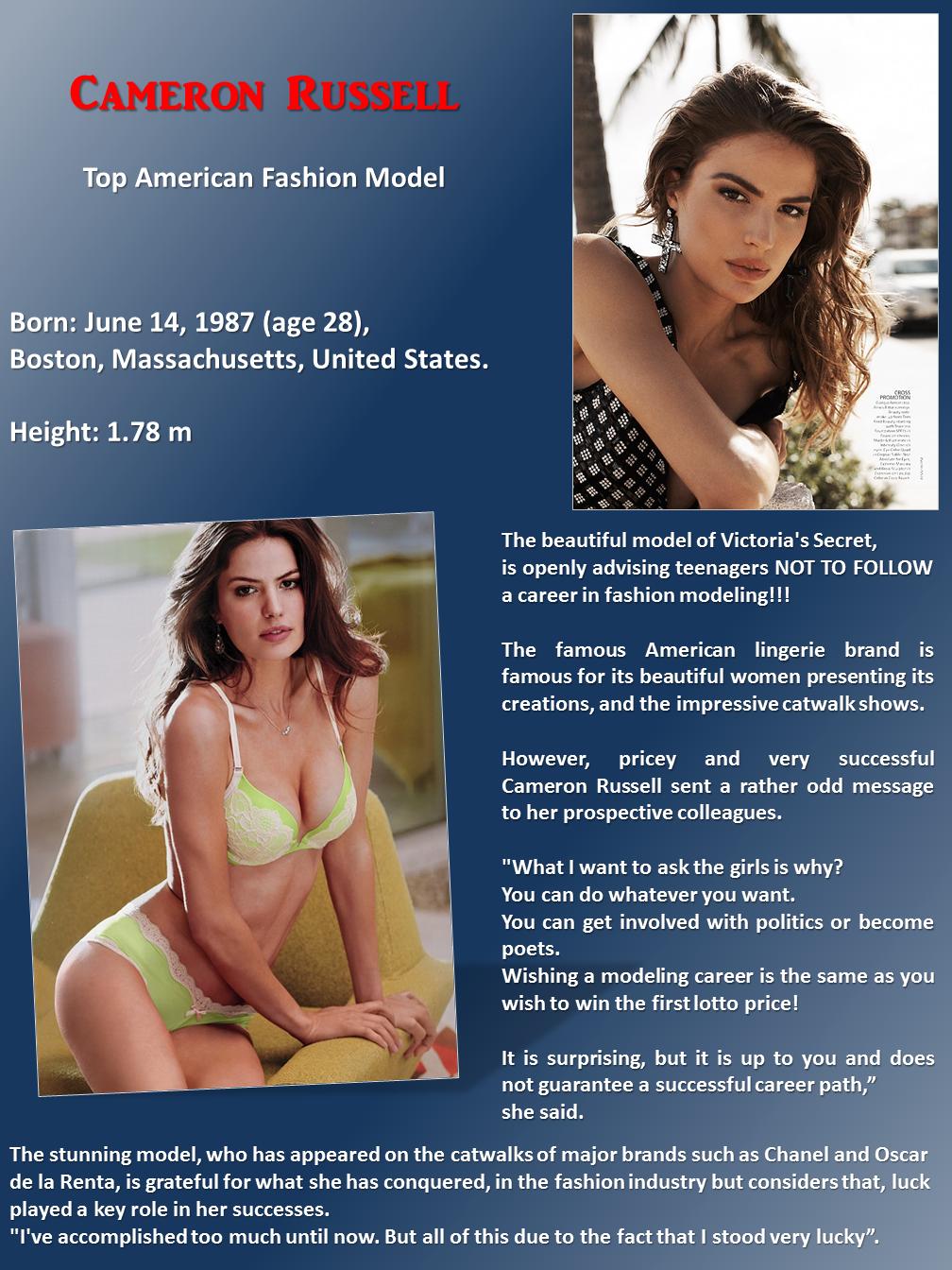 Prevent girls from Modelling
