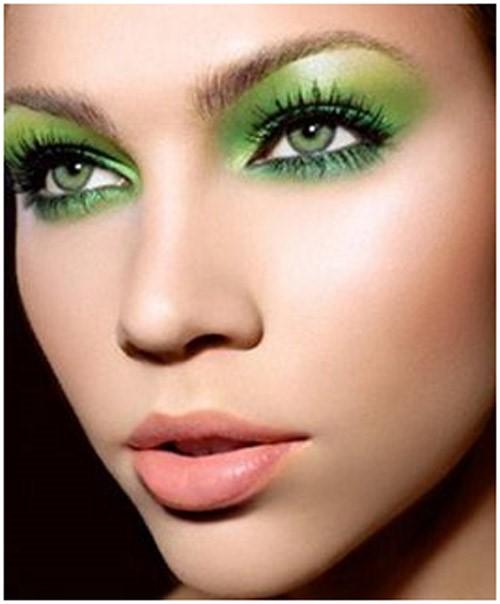 Electric Green Eye Makeup