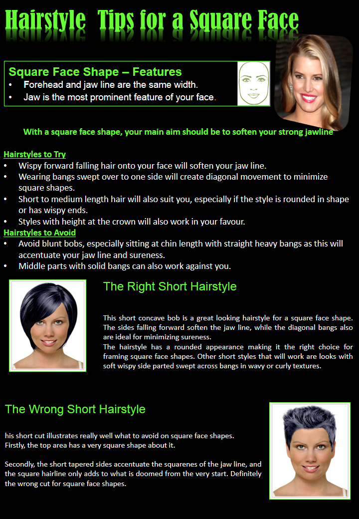 Hairstyle  Tips for a Square Face