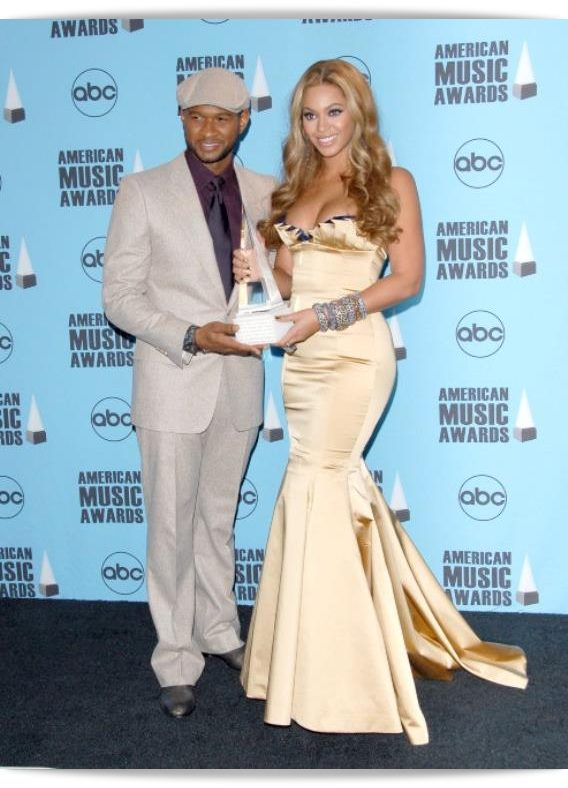 2007,with Usher in American Music Awards, LA