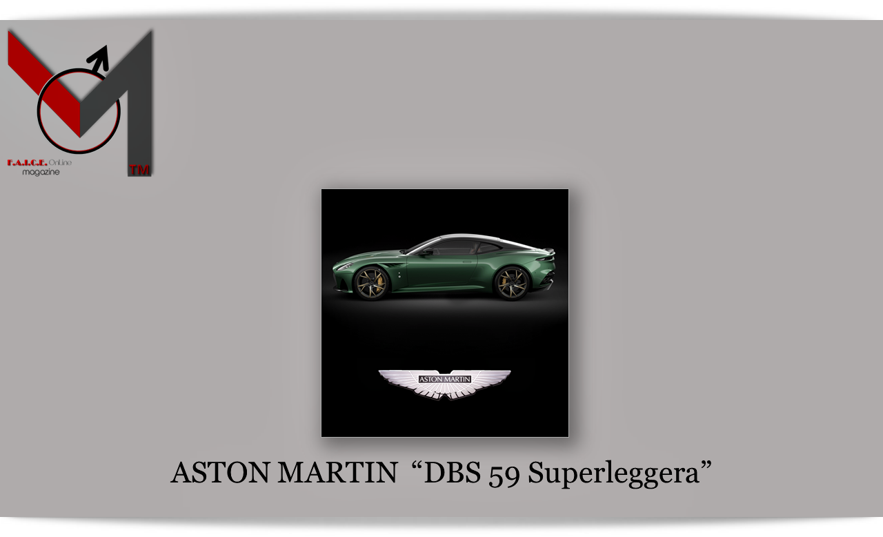 "ASTON MARTIN  ""DBS 59 Superleggera"""