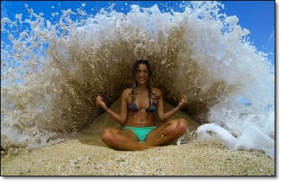Yoga and waves.